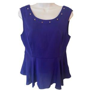 Signature 8 purple open back camisole top